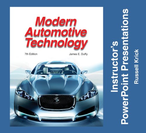 9781590709689: Modern Automotive Technology: Instructor's Powerpoint Presentations: Individual License