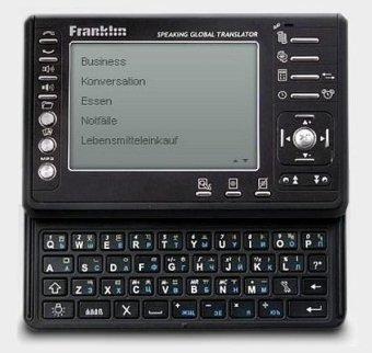 9781590744352: Franklin TGA-495. 12-Language Speaking Global Translator: Englisch / Deutsch / Französisch / Italienisch / Spanisch / Portugiesisch / Russisch / ... und Währungen. Datenbank, Orts-/Weltzeituhr