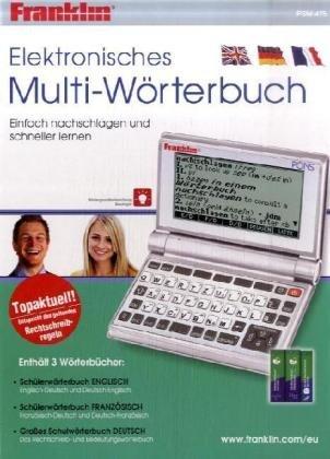 9781590744628: Franklin PSW-475: Elektronisches Multi-Wörterbuch Deutsch<->Englisch und Deutsch<->Französisch, Großes Wörterbuch Deutsch
