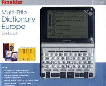 9781590745052: NID-260M Multi-Title Dictionary Europe DeLuxe: Ultimate Reference Suite & eBook-Reader, MW New International Dic, Langenscheidt Handwörterbücher ENG + FRA + SPA + ITA