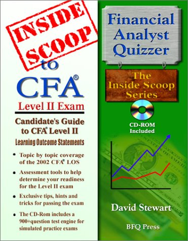 9781590959015: InsideScoop to Chartered Financial Analyst Level II: Candidates Guide to CFA Level II Learning Outcome Statements (With CD-Rom Exam)