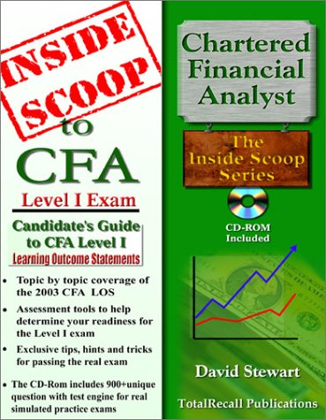 9781590959022: InsideScoop to Candidate's Guide to (CFA) Chartered Financial Analyst 2003 Level I Learning Outcome Statements (With CD-ROM Exam)