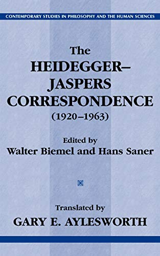 9781591020608: The Heidegger-Jaspers Correspondence (1920-1963) (Contemporary Studies in Philosophy and the Human Sciences.)