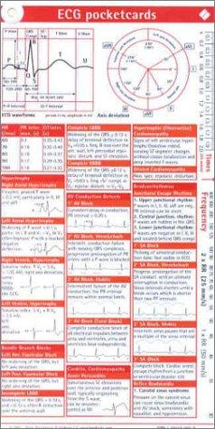 9781591030034: ECG Pocketcard 3-Card Set Single Cards