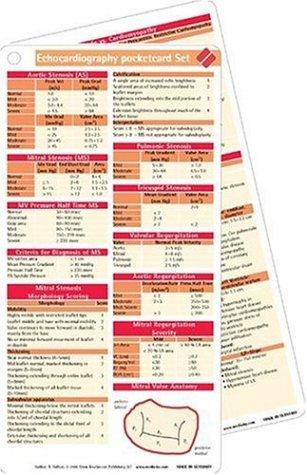9781591030249: Echocardiography Pocketcard Set