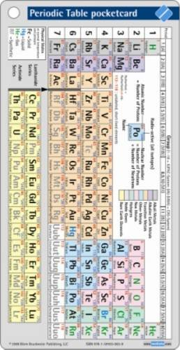 9781591030904: Periodic Table Pocketcard