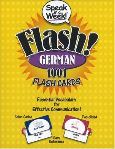 9781591259497: Speak in a Week! Flash! German: 1001 Flash Cards (German and English Edition)