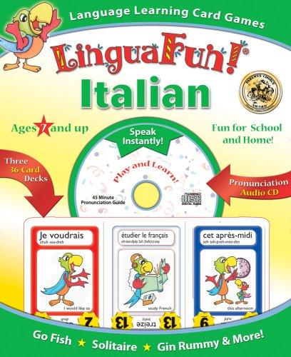 9781591259985: Linguafun! Italian: Language Learning Card Games and CD