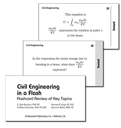 9781591260318: Civil Engineering in a Flash: Flashcard Review of Key Topics