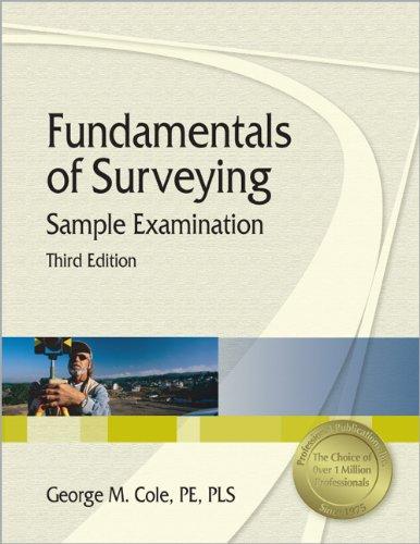 9781591260462: Fundamentals of Surveying Sample Examination, 3rd Ed