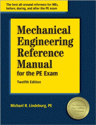 9781591260493: Mechanical Engineering Reference Manual for the PE Exam, 12th Edition