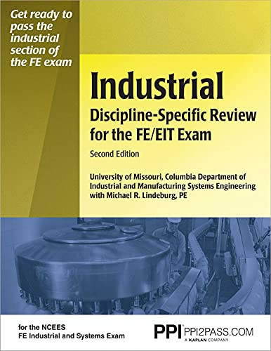 9781591260684: Industrial Discipline-Specific Review for the FE/EIT Exam, 2nd Ed