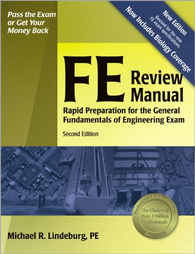 9781591260721: FE Review Manual: Rapid Preparation for the General Fundamentals of Engineering Exam (F E Review Manual), 2nd ed.