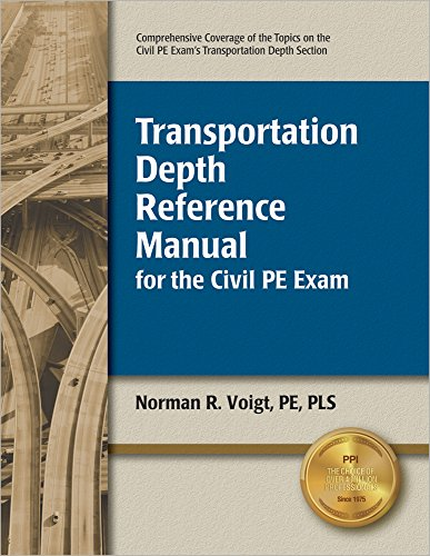 9781591260943: Transportation Depth Reference Manual for the Civil PE Exam