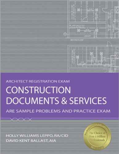 9781591261230: Construction Documents & Services: ARE Sample Problems and Practice Exam (Architect Registration Exam)