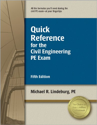 9781591261384: Quick Reference for the Civil Engineering PE Exam