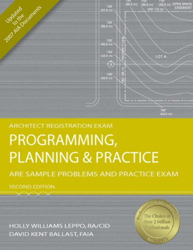 9781591263272: Programming, Planning & Practice: ARE Sample Problems and Practice Exam, 2nd Ed