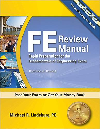 9781591263333: FE Review Manual: Rapid Preparation for the Fundamentals of Engineering Exam, 3rd Ed