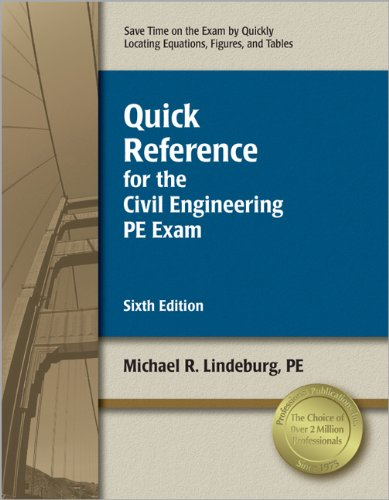 9781591263463: Quick Reference for the Civil Engineering PE Exam