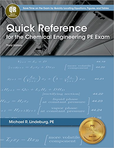 9781591264125: Quick Reference for the Chemical Engineering PE Exam, 3rd Ed