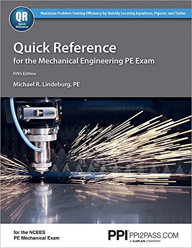 9781591264163: Quick Reference for the Mechanical Engineering PE Exam, 5th Ed
