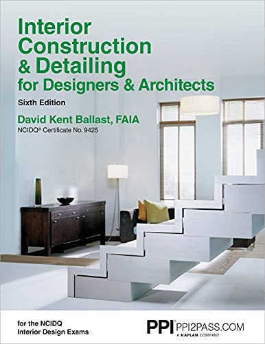 9781591264200: Interior Construction & Detailing for Designers & Architects, 6th Edition