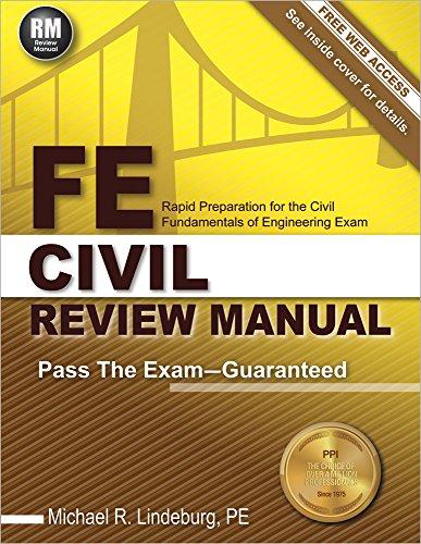 FE Civil Review Manual: Lindeburg PE, Michael R.