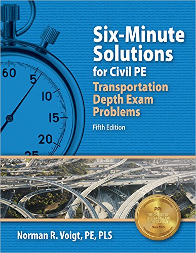 9781591264675: Six-Minute Solutions for Civil PE Transportation Depth Exam Problems