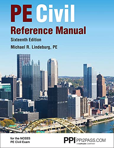 9781591265702: PPI PE Civil Reference Manual, 16th Edition – Comprehensive Reference Manual for the NCEES PE Civil Exam