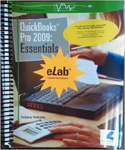9781591361817: QUICKBOOKS PRO 2009:ESSENTIALS