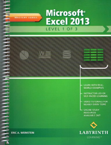 9781591364917: MICROSOFT EXCEL 2013:LEVEL 1 O