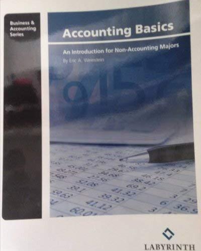9781591366928: Accounting Basics: An Introduction for Non-Accounting Majors