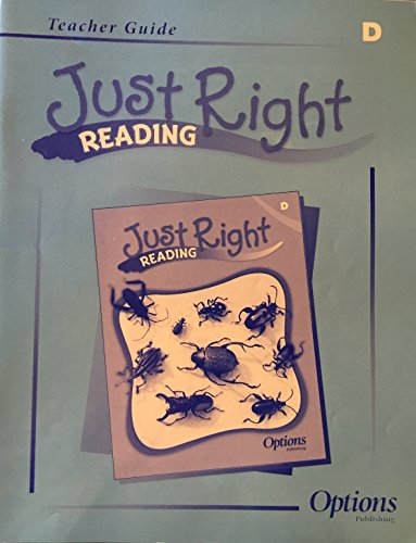 9781591375258: Just Right Reading Teacher's Guide (LEVEL D)