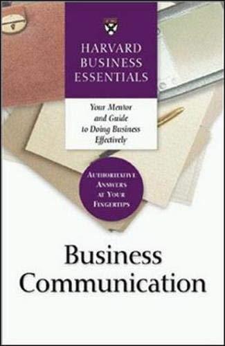 9781591391135: Business Communication (Harvard Business Essentials)