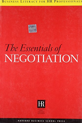 9781591395744: The Essentials Of Negotiation (Business Literacy for HR Professionals)