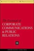 9781591398196: The Essentials of Corporate Communications and Public Relations (Business Literacy for HR Professionals)