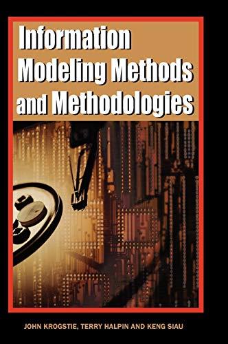 9781591403753: Information Modeling Methods and Methodologies