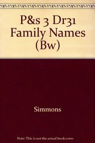 P&s 3 Dr31 Family Names (Bw): Simmons