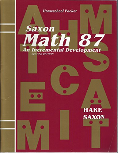 9781591411680: Saxon Math 87: An Incremental Development Homeschool Packet