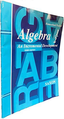 Saxon Algebra 1/2: Answer Key only (Level: SAXON PUBLISHERS