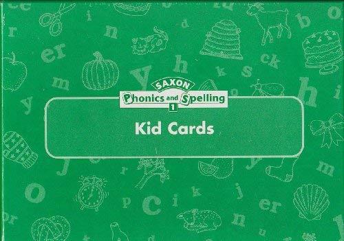 9781591411864: Saxon Phonics & Spelling Kid Cards w/Storage Classroom Set