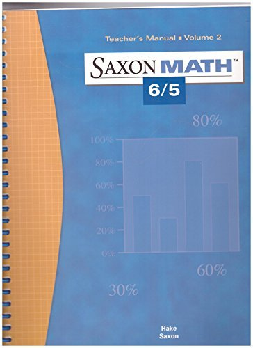9781591412489: Saxon Math 6/5 (Teacher's Manual, Volume 2)