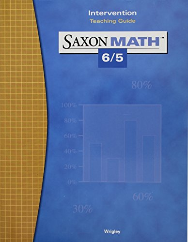 Math 6/5 3e Intervention Teaching Guide (Saxon