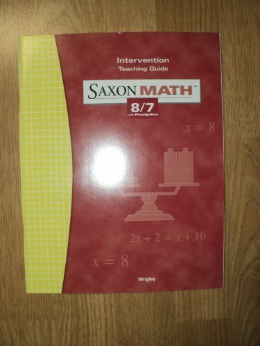 9781591412809: Saxon Math 8/7 3e Intervention Teaching Guide