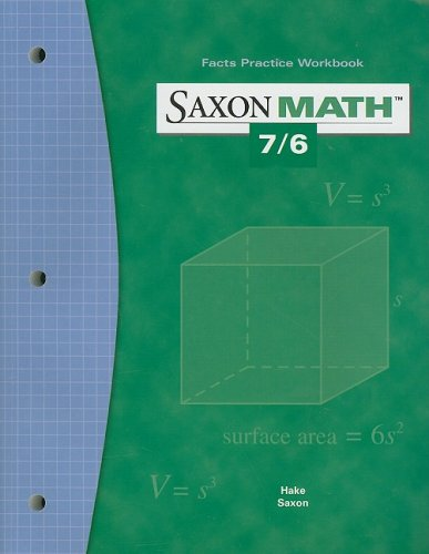 9781591412847: Saxon Math 7/6: Fact Practice Workbook