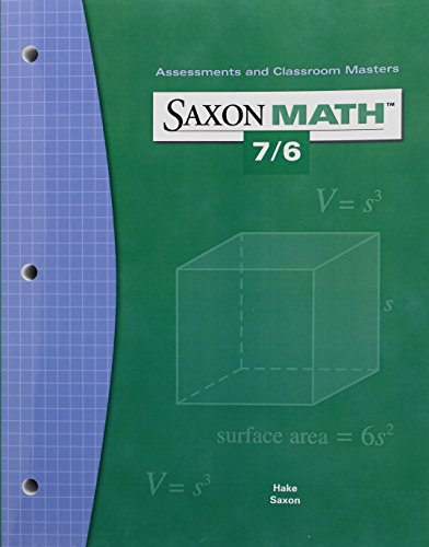 Math 7/6 4e Assessments & Classroom Mast: Various