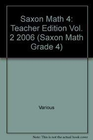 Saxon Math 4: Teacher's Manual Vol. 2, 2006: SAXON PUBLISHERS