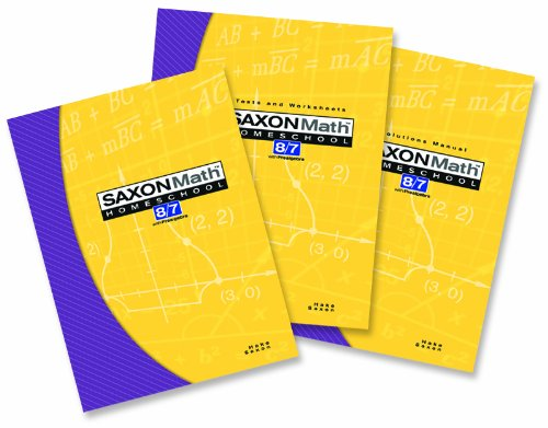 9781591413349: Saxon Math 8/7: Homeschool Set/Box