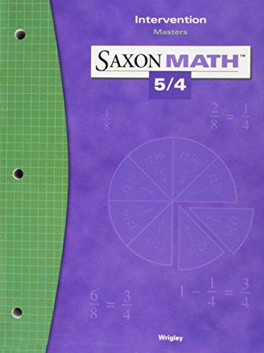 9781591413363: Saxon Math 5/4: Intervention Masters