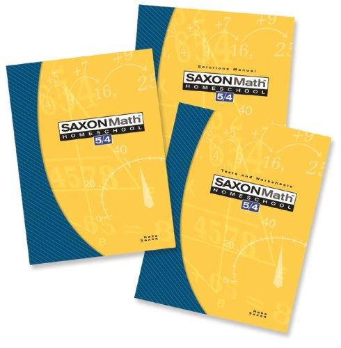 9781591413479: Saxon Math 5/4 Homeschool: Complete Kit 3rd Edition